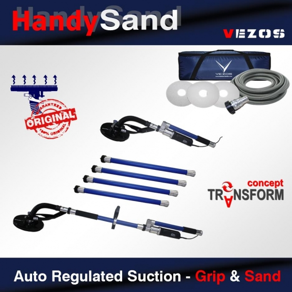 Auto Regulated Suction - Grip & Sand | Vezos Drywall Sanders