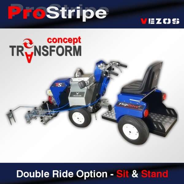 Double Ride Option - Sit & Stand | Vezos Hydraulic Line Stripers